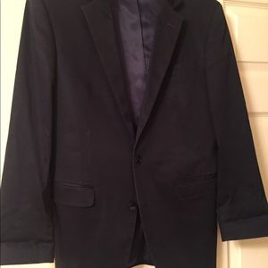 Kenneth Cole Navy Two Button Blazer